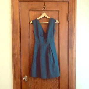 Jcrew peacock blue bridesmaid dress